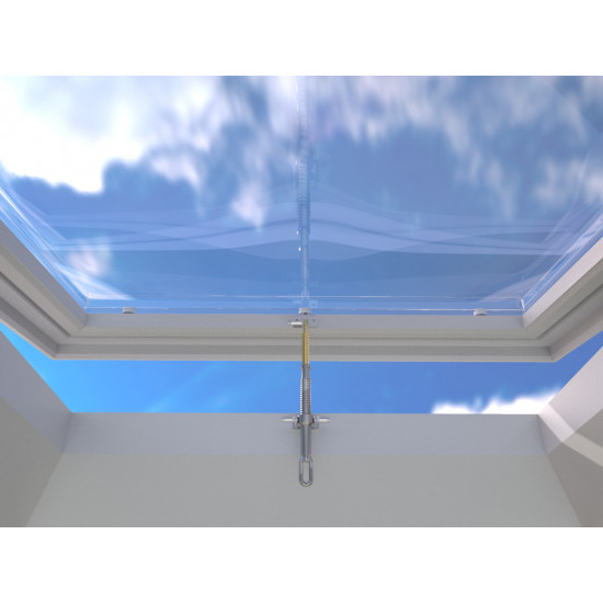Opening Rooflight For Flat Roof - Manual Vent Mardome, Including FREE Winding Rod