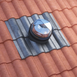 Tubular Skylight For Pitched Roof Bold Rolled Tiles - Monodraught Sunpipe