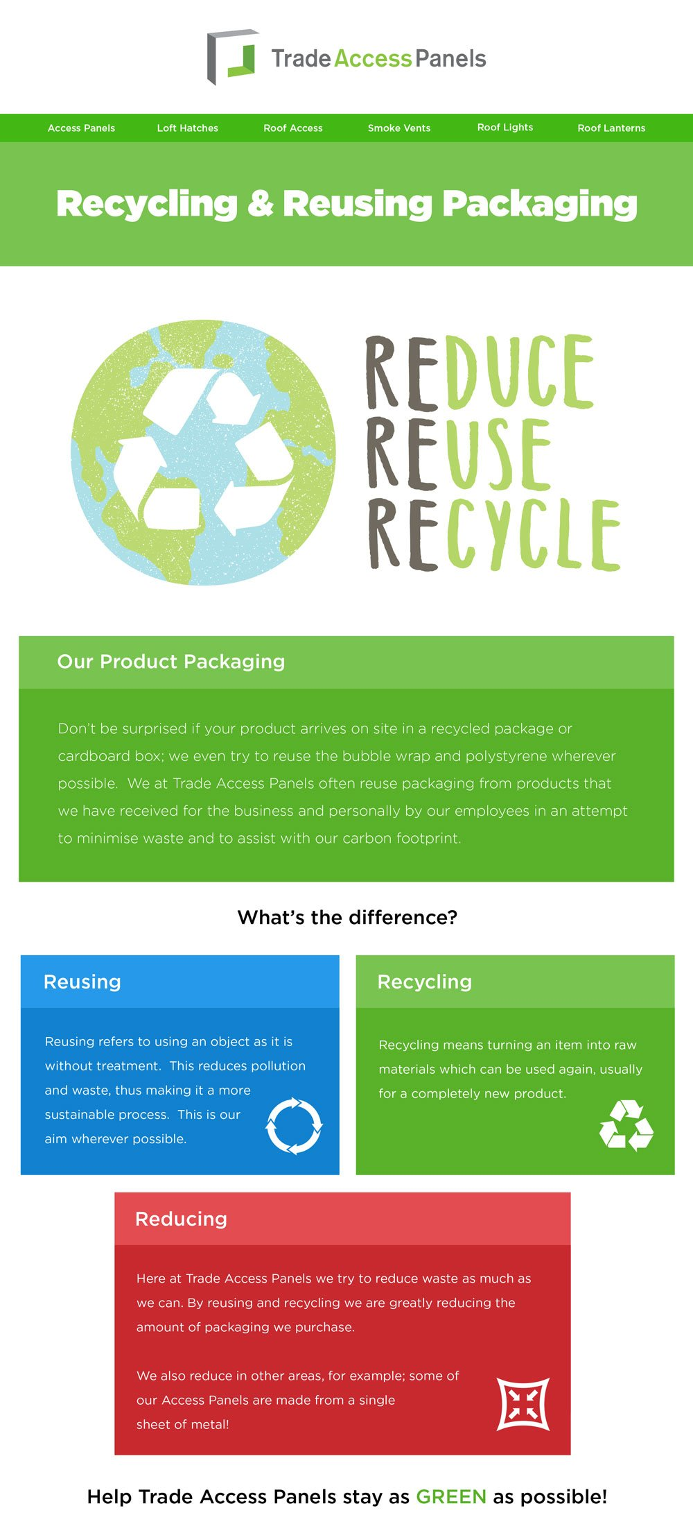 Recycle, reuse