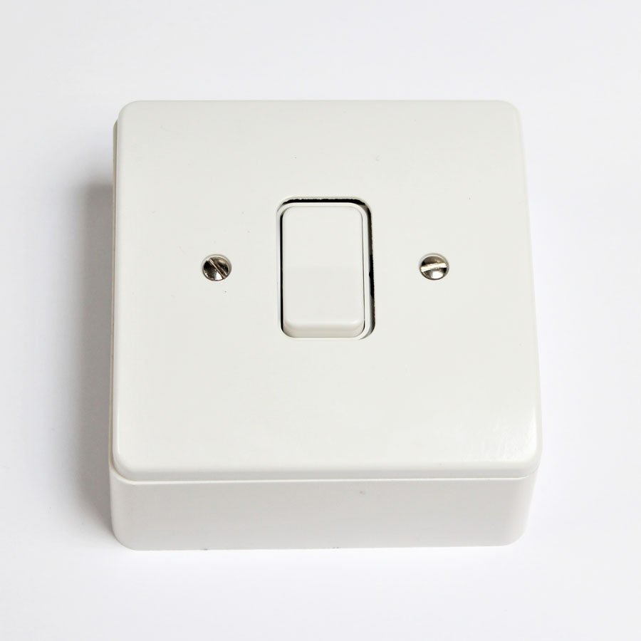 Rocker switch for electric vent rooflight