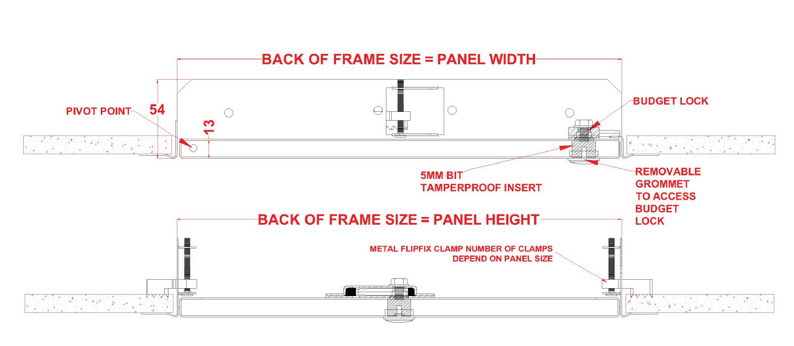 Tamper Proof Lock Fire Rated Metal Access Panel with Beaded Frame - SALE!
