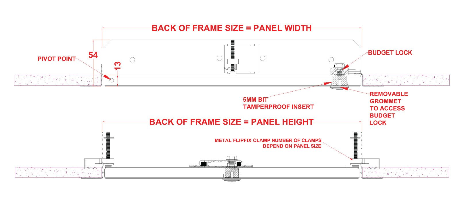 Tamper Proof Lock Fire Rated Metal Access Panel with Picture Frame - SALE!
