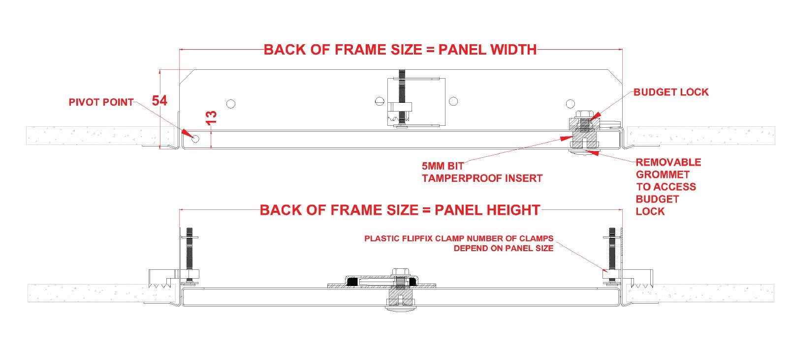Tamper Proof Lock Metal Access Panel with Beaded Frame - SALE!